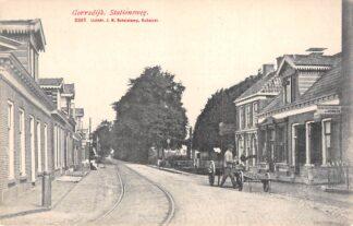 Ansichtkaart Gorredijk Stationsweg met tramspoor HC22018