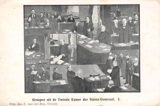 Ansichtkaart 's-Gravenhage Groepen uit de Tweede Kamer der Staten-Generaal I. HC22024