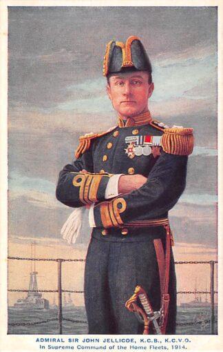 Ansichtkaart Engeland WO1 1914-1918 Admiral Sir John Jellicoe K.C.B. K.C.V.O. In Supreme Command of the Home Fleets 1914 Marine England Great Britain Europa HC22029