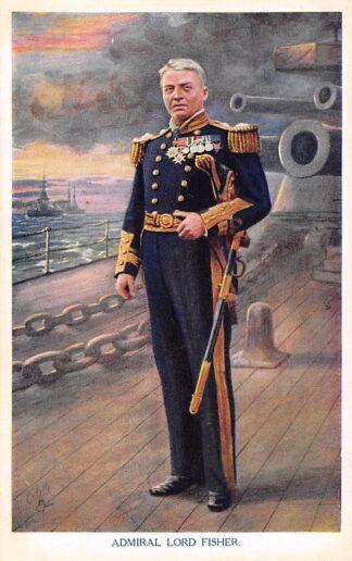 Ansichtkaart Engeland WO1 1914-1918 Admiral Lord Fisher Marine England Great Britain Europa HC22030