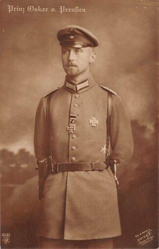 Ansichtkaart Duitsland WO1 1914-1918 Prinz Oskar von Preussen Militair Koningshuis Deutschland Europa HC22033