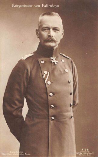 Ansichtkaart Duitsland WO1 1914-1918 Kriegsminister von Falkenhayn Militair Duitsland Deutschland Europa HC22043