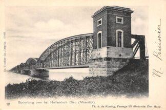 Ansichtkaart Moerdijk Dordrecht Spoorbrug over het Hollandsch Diep Spoorwegen HC22069