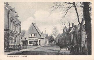 Ansichtkaart Dieren Prinsenstraat met postkantoor 1928 Rheden HC22074