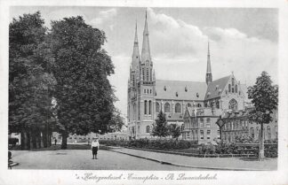 Ansichtkaart 's-Hertogenbosch Emmaplein St. Leonardus kerk 1917 HC22092