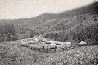Ansichtkaart Nederlands Nieuw-Guinea Dorp in de Baleimvallei Missieprocuur Franciscanen Indonesia Australië HC22093