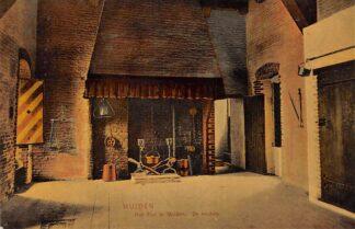 Ansichtkaart Muiden Het Slot te Muiden De keuken Kasteel 1908 HC22187