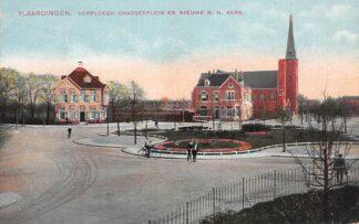 Ansichtkaart Vlaardingen Verploegh Chasseplein en nieuwe N.H. Kerk 1915 HC22190