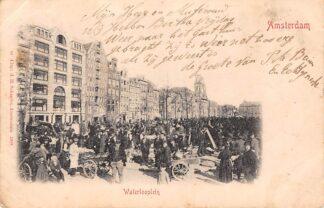 Ansichtkaart Amsterdam Waterlooplein Markt Straatleven 1901 C22193
