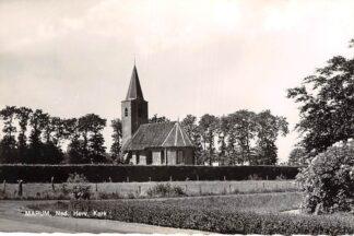 Ansichtkaart Marum Ned. Hervormde Kerk met begraafplaats 1962 Westerkwartier Groningen HC22212