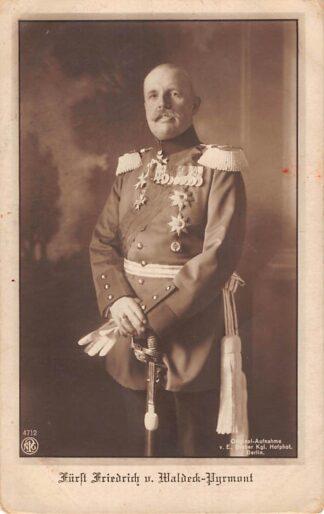 Ansichtkaart Duitsland WO1 1914-1918 Furst Friedrich v. Waldeck Pyrmont Koningshuis Militair Deutschland Europa HC22272