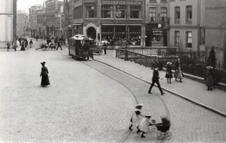 Ansichtkaart Zo was Dordrecht Visbrug omstreeks 1910 Paardentram Tram HC22284
