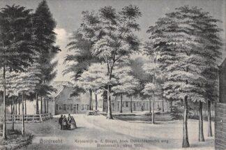 Ansichtkaart Dordrecht Krooswijk a.d. Singel hoek Dubbeldamsche weg Bleekersdijk circa 1850 HC22296