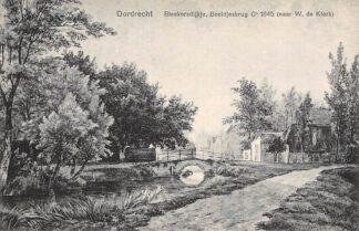 Ansichtkaart Dordrecht Bleekersdijkje Beeldjesbrug Ca. 1845 (naar W.de Klerk) HC22301