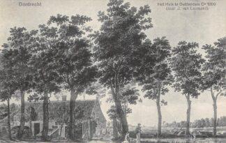 Ansichtkaart Dordrecht Het Huis te Dubbeldam Ca. 1809 (naar J. van Lexmond) HC22305