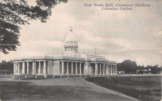 Ansichtkaart Ceylon Columbo New Townn Hall Cinnamon Gardens Sri Lanka Azië HC22351