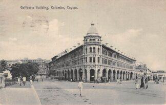 Ansichtkaart Ceylon Colombo Gaffoor's Building 1928 Sri Lanka Azië HC22352