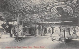 Ansichtkaart Ceylon Interior of the Rock Temple Sigiri Ruined Cities 1910 Sri Lanka Azië HC22353