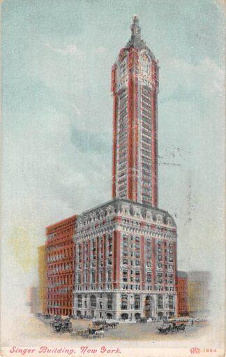 Ansichtkaart USA New York Singer Building 1909 Noord-Amerika HC22381
