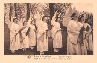 Ansichtkaart België Rutten 1e Meifeest Groep der Engelen Tongeren Europa HC22392