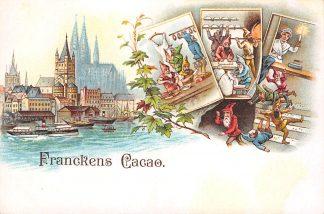 Ansichtkaart Koog aan de Zaan Reclame Franckens Cacao Francken Cacao en Chocolade Fabriek Gezicht op Keulen HC22393