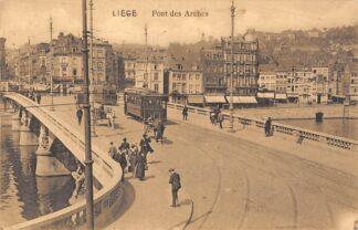 Ansichtkaart België Luik Liège Pont des Arches met trams 1912 Europa HC22401