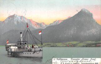 Ansichtkaart Oostenrijk Abersee Dampfer Franz Josef 1905 St. Wolfgang Scheepvaart Schepen Austria Osterreich Europa HC22408