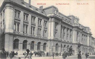 Ansichtkaart België Brussel Bruxelles La Post Centrale Hoofd postkantoor 1911 Europa HC22418
