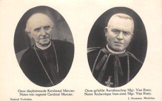 Ansichtkaart België Mechelen Onze diepbetreurde Kardinaal  Mercier Onze geliefde Aartsbisschop Mgr. Van Roey Europa HC22426