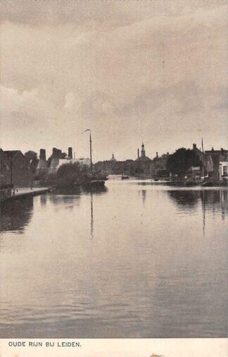 Ansichtkaart Oude Rijn bij Leiden Binnenvaart schip Scheepvaart HC22438
