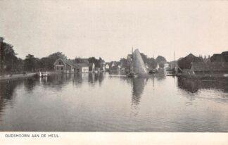 Ansichtkaart Oudshoorn aan de Heul Binnenvaart schepen Scheepvaart Alphen aan den Rijn HC22441