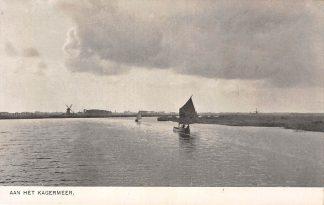 Ansichtkaart De Kaag en Braassem Aan het Kagermeer Molen en binnenvaart schepen Scheepvaart HC22443