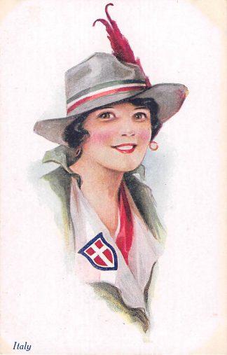 Ansichtkaart Engeland Italy Vivian Mansell Vintage Postcard Militair Italië England Fantasie Europa HC22486