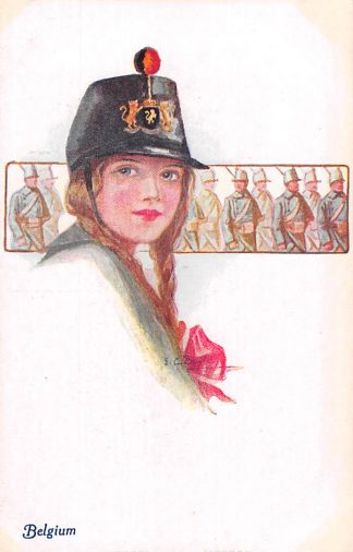 Ansichtkaart Engeland Belgium A Vivian Mansell Vintage Postcard Militair Fantasie Engeland België Europa HC22490