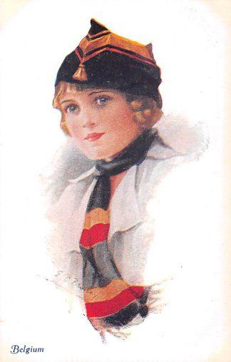 Ansichtkaart Engeland Belgium A Vivian Mansell vintage postcard Militair Fantasie England België Europa HC22497