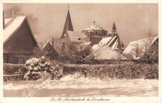 Ansichtkaart Denekamp De St. Nicolaas kerk in de sneeuw 1934 Dinkelland HC22547