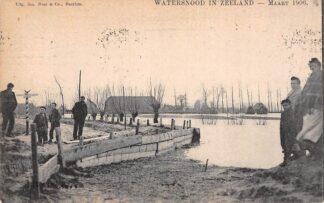 Ansichtkaart Onbekend Watersnood in Zeeland Maart 1906 HC22560