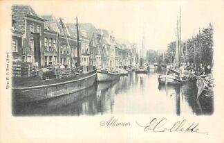 Ansichtkaart Alkmaar 1900 Binnenvaart schepen Scheepvaart HC22596