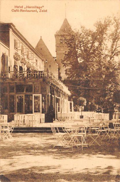 Ansichtkaart Zeist Hotel Hermitage Café Restaurant Terras 1921 HC22615