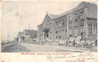 Ansichtkaart Zandvoort Badhuis voor minvermogenden 1901 HC22621