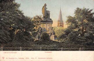 Ansichtkaart Amsterdam Vondelpark Monument Vondel 1904 HC22628