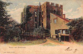 Ansichtkaart Santpoort bij Haarlem Ruïne van Brederode 1904 HC22636
