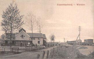Ansichtkaart Wierden Exportslachterij met laad station wagons Treinen Spoorwegen Almelo Twente HC22641