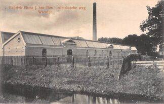 Ansichtkaart Wierden Textiel Fabriek Firma J. ten Bos Almelosche weg Almelo Twente HC22650