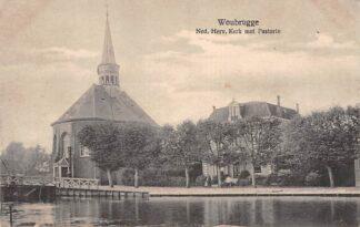 Ansichtkaart Woubrugge Ned. hervormde Kerk met Pastorie HC22653