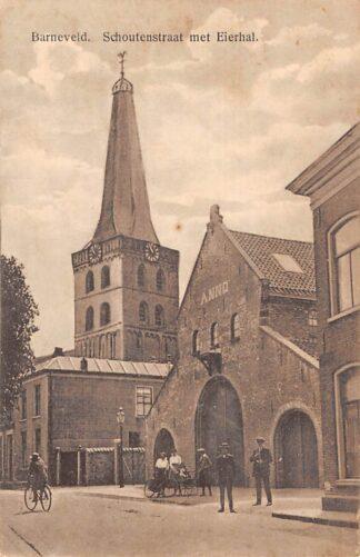 Ansichtkaart Barneveld Schoutenstraat met eierhal Veluwe 1914 HC22657