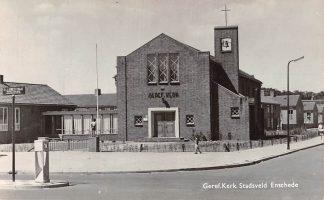 Ansichtkaart Enschede Gereformeerde Kerk Stadsveld Fotokaart HC22724