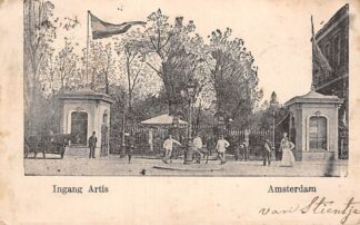 Ansichtkaart Amsterdam Ingang Artis 1903 Dierentuin Zoo HC22779