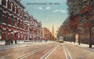 Ansichtkaart 's-Gravenhage Den Haag Bezuidenhoutscheweg met HTM Tram 4 Lijn 4 1916 HC22780