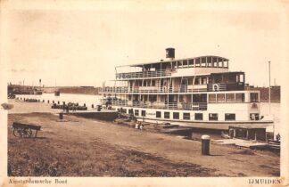 Ansichtkaart IJmuiden Amsterdamsche Boot Alkmaar 1925 Binnenvaart schepen Scheepvaart HC22788